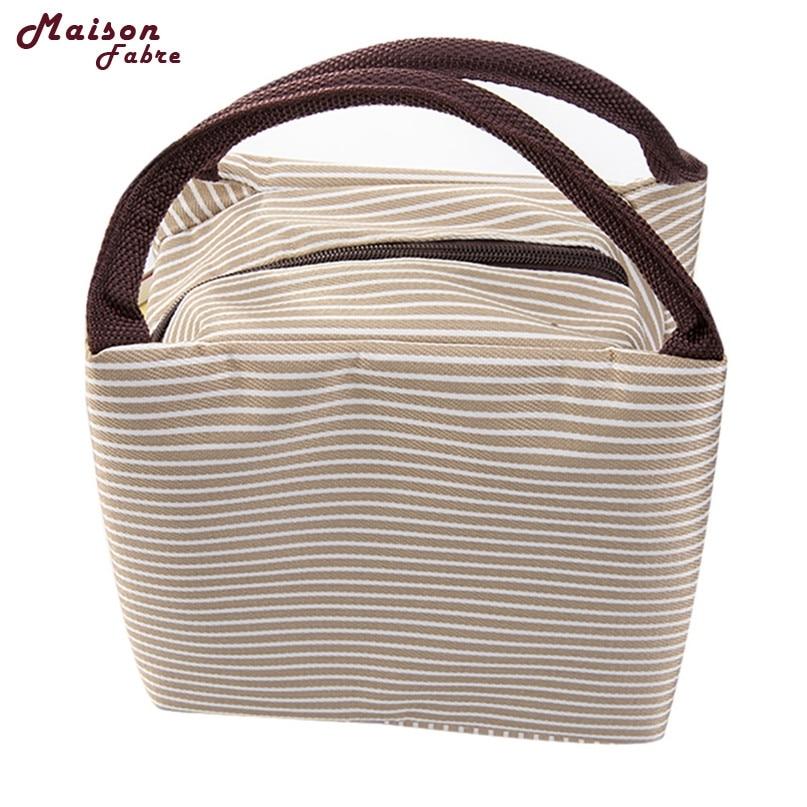 Maison Fibre Insulation Package Portable Waterproof Canvas font b Lunch b font font b Bags b