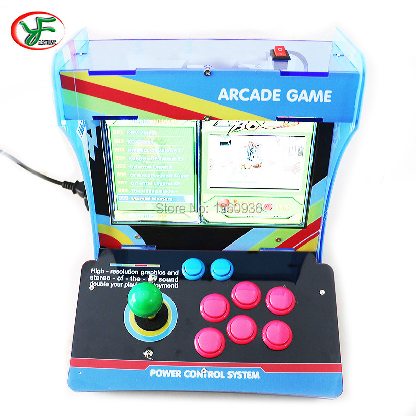 """Classic Arcade Game 1 Player Console Box Retro Mini Arcade Video with 1299 Game Board  10.4"""" LCD"""