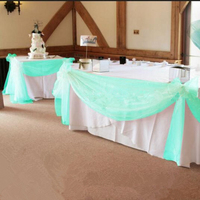 10M 1 35M Tiffany Green Organza Fabric Wedding Decoration Supplies 1pcs