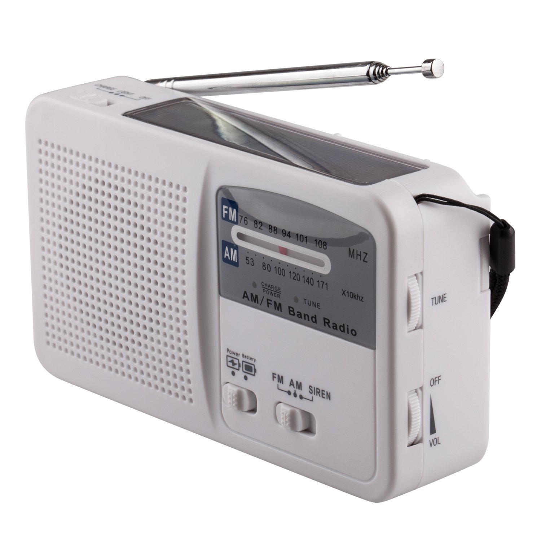 tivdio hr 11w fm am noaa weather emergency radio hand crank solar