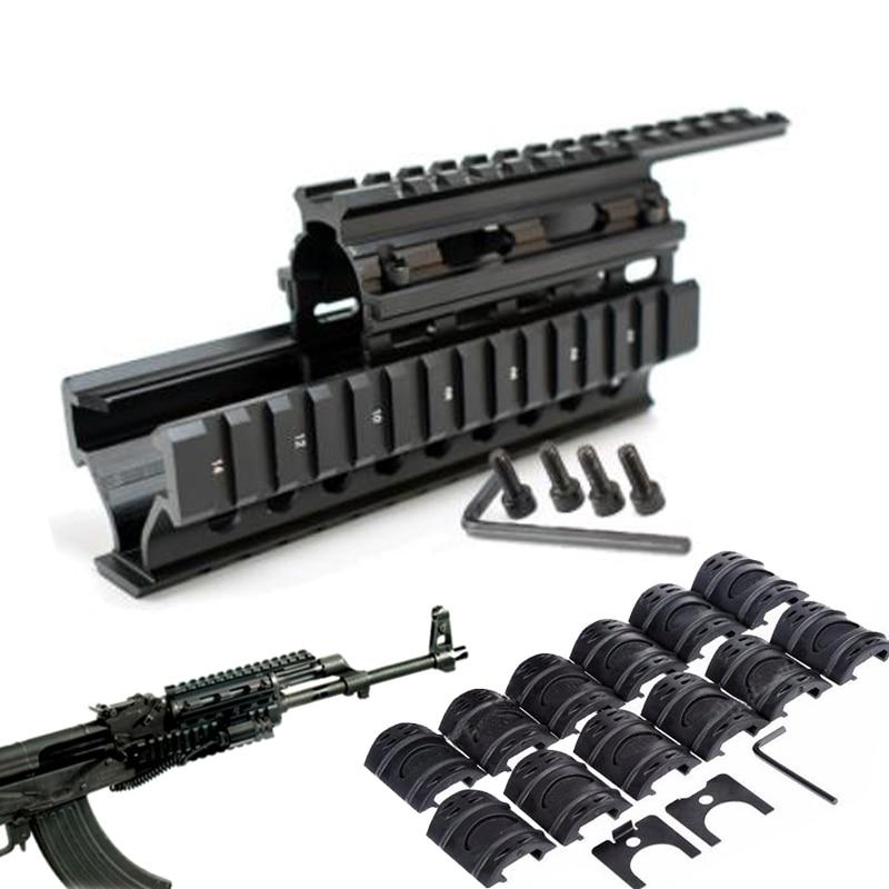 Rail-Mount Handguard Shooting-Caza AK47 Tactical Quad Said 12pcs for 74/Aks/Hunting