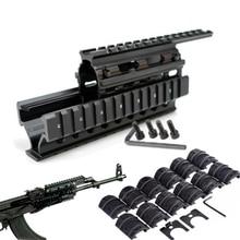Тактический Quad Rail Mount Универсальный Quad Said Rails Handguard Rail w 12 шт. рельсовые Чехлы для AK47 74 AKS охотничья стрельба Caza