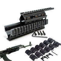 Tactical Quad Rail Mount Universal Quad Said Rails Handguard Rail w 12pcs Rail Covers for AK47 74 AKS Hunting Shooting Caza