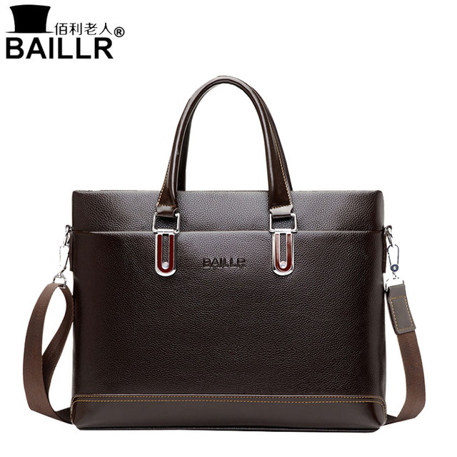 Baillr New Style 2017 Handbags Men Pu Leather Por Man Tote Business Bags Solid Color Fashion