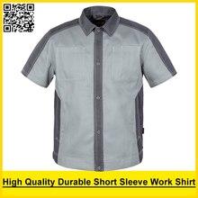 Bauskydd Men's short sleeve polo shirt High quality  workwear shirt  work shirt engineer uniform jacket mechanic polo shirt