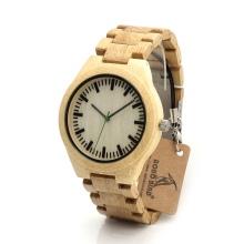 BOBO BIRD I29 Original Grain of Bamboo Wooden Watches With All Wood Bamboo Straps Unique Lifestyle Design Elegant Watches