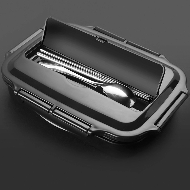 Quality Stainless Steel Lunch Box Containers with Compartments Portable Bento Food Container with Tableware image