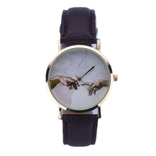 Women Lady Leather Analog Quartz Wrist Watch  Oct28 new design send in 2 days