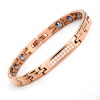 38 New Fashion Health Care Magnetic Therapy Bracelet Prue Germanium Bracelet Stainless Steel Magnetic Bracelets for Women