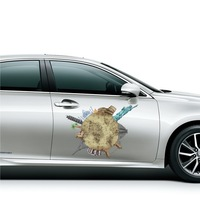 Waterproof Sunproof Vinyl Car Stickers 3d Graphic Funny Auto Decorative Decal Stickers Vehicle Body Wrap Film