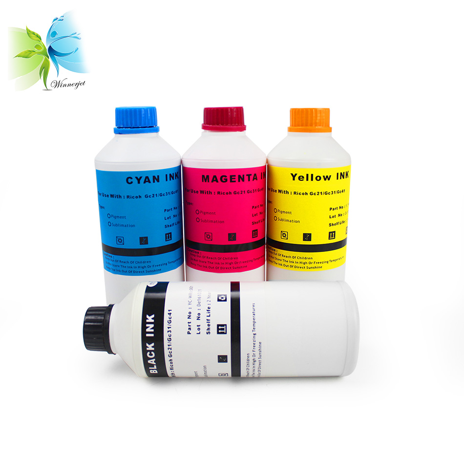 Winnerjet 1000ML Sublimation ink for GX7000 GX3000SF GX3000 GX5050N GX3050N GX3000S GX2500 GX3050SFN GX5050 for Ricoh GC31 in Ink Refill Kits from Computer Office