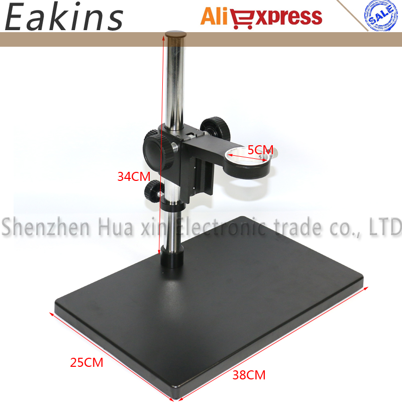 Big Size Adjustable table Stand Holder+50mm Ring Holder for Lab Industry Video Microscope Camera professional continue 7 45x industry microscope camera universal bracket big stretch stand holder for jewelry lab pcb repairing