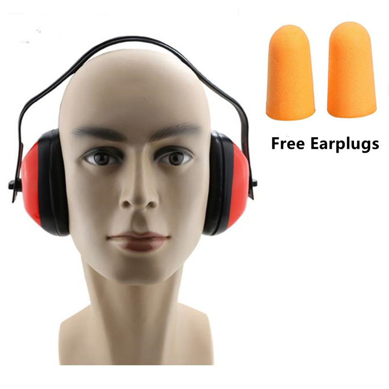 Soundproof Anti Noise Earmuffs Mute Headphones For Study Work Sleep Ear Protector With Foldable Adjustable Headband