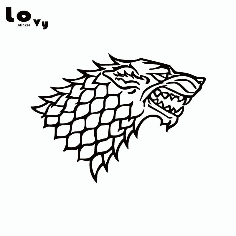 Game Of Thrones - House Stark - Direwolf Vinyl Car Sticker / Decal enchanters end game