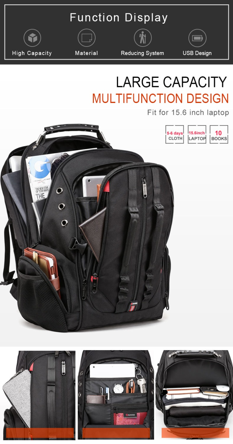 15.6 anti-theft laptop backpack  - durable 45l s strap design 15.6 Anti-Theft Laptop Backpack  – Durable 45L S Strap Design HTB1AlJDbsfrK1Rjy0Fmq6xhEXXaW