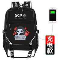 SCP Special Containment Procedures Foundation School Bag Printing Backpack USB Charging Laptop Backpack Canvas Travel Bags
