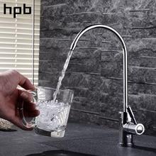 Блаватская латунь современные Стиль раковина питьевой воды обратного осмоса кухонный кран один холодный фильтр нажмите хромированная отделка HP4401