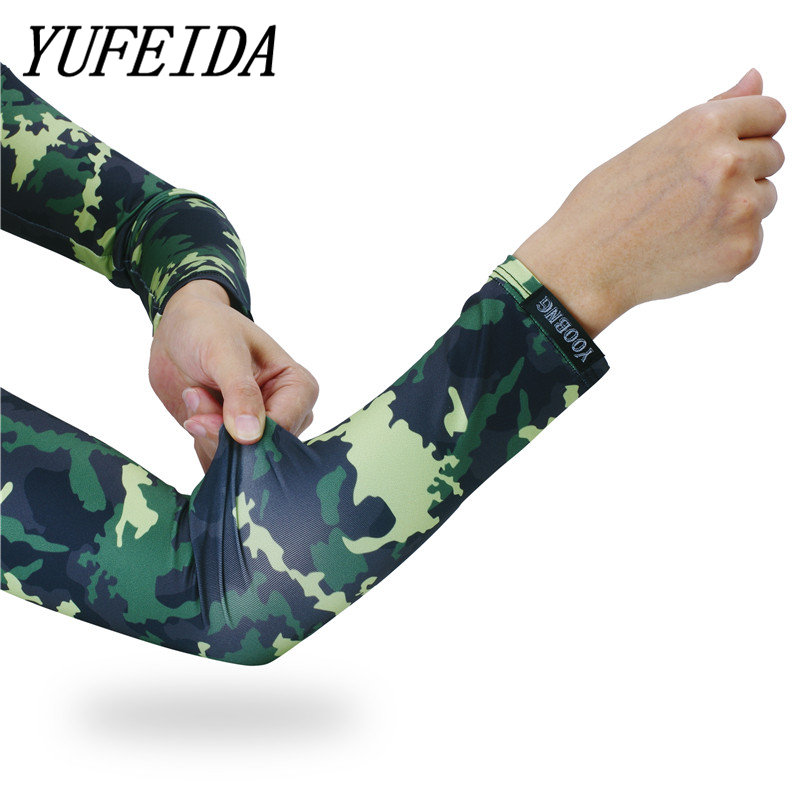 Summer Leg Sleeves UV Protection Compression Sports Running Cycling Long Sleeve