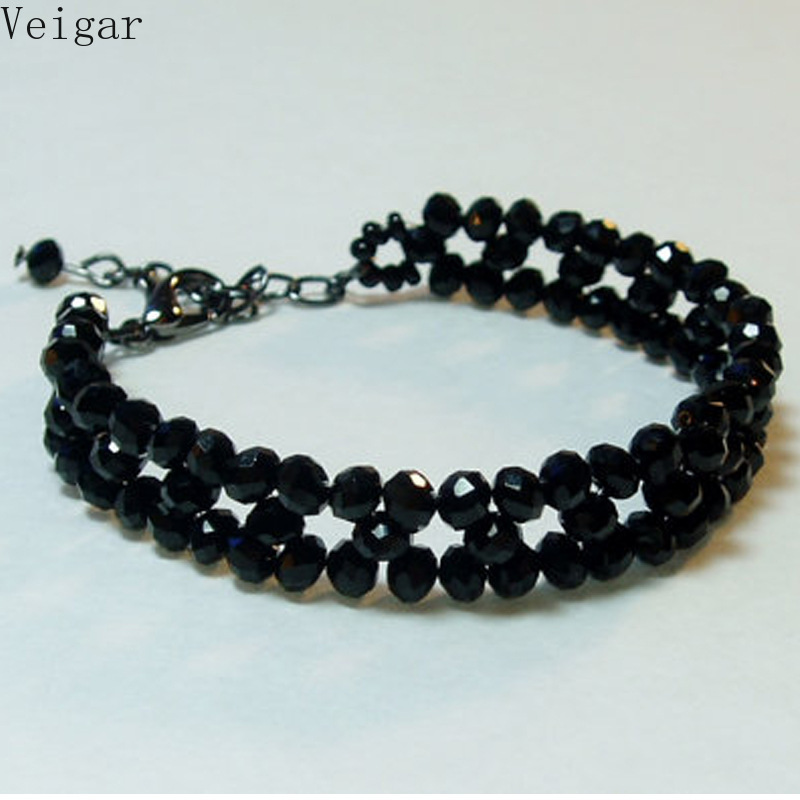 Black Beads Weave Ankle Bracelet Beaded Ankle Bracelets for Women Foot Chain Body Jewelry Gift for Girls Chaine De Pied 2018