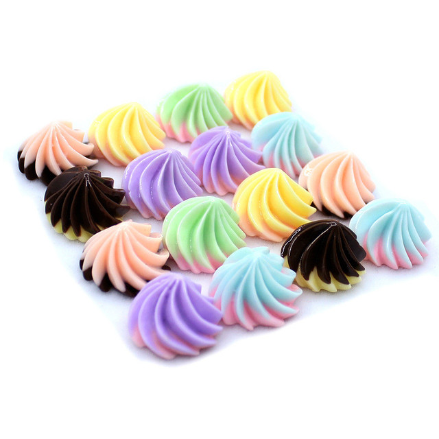 5 Pcs/lot Slime Charms Mixed Resin Candy Beads Slime Bead for DIY Crafts Scrapbooking Decoration