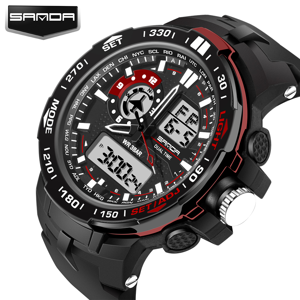 2016 New G Style Digital Watch Men Military Army Watch Waterproof Date Calendar LED Sports Watch