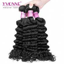 3 Bundles Cambodian Hair Deep Wave,Unprocessed Virgin Hair,Top Grade Aliexpress YVONNE Human Hair Free Shipping