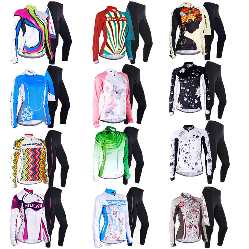 2019 Women's cycling clothing long sleeve set maillot mtb dress mountain road bike clothes girl wear bicycle jersey suit kit