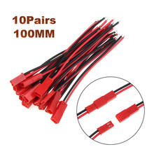 10 Set 100mm Male&Female Connector JST Plug Cable For RC BEC Battery Helicopter DIY FPV Drone 2 Pin Connectors Terminals