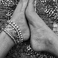 Tornozeleiras de Prata Para As Mulheres do vintage Sino Tornozelo Boêmio Pulseira Cheville Tornozeleiras Barefoot Sandálias Pulseras Mujer Jóias Pé
