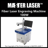 Lower Price 100W Fiber Portable 220V Input IPG Laser With DELL DESKTOP Computer Laser Engraving And