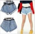 Promoção Lady Denim shorts, Shorts Jeans mulheres, Venda quente das senhoras calças Plus Size 26 - 31 frete grátis via China Post