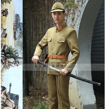 The Japanese Imperial officer Da Zuos clothing 2nd World War Millitary Uniform Japs Anti soldiers stage costumes