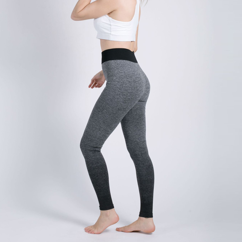 Gray Ombre Seamless Leggings High Waist Womens Gyms Workout Leggins Push Up Elasticity Fitness Clothing Female Sportlegging