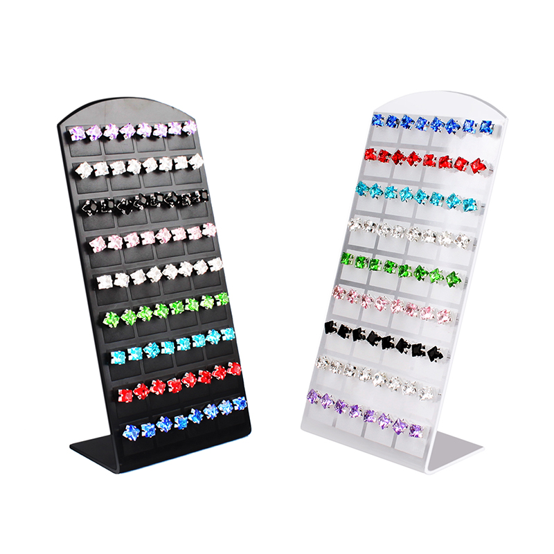 36Pairs/Set Black Plastic Jewelry Holder Organizer Earrings Ear Studs Display Stand Showcase Jewelry Display Rack For Women#4681
