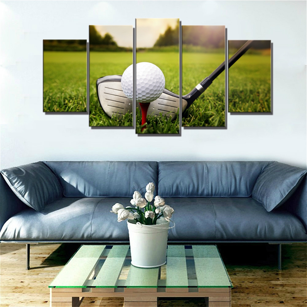 Golf Course Landscape Wall Art Canvas Painting for Home ...