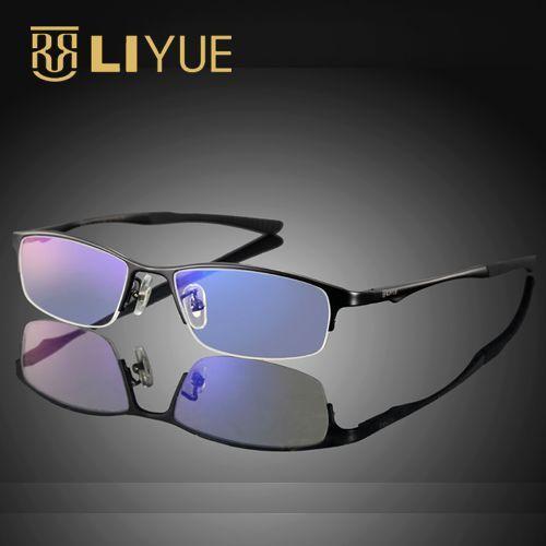 Titanium optical frame Alta qualidade óptica frame eyewear óculos de computador blu ray óculos óculos de prescrição óculos 9527