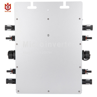 Maylar Солнечный Мощность микро инвертор 1200 Вт DC 22 50 В к AC 220 В IP65 сетки галстук инвертора с 4 MPPT чистая синусоида Напряжение конвертер