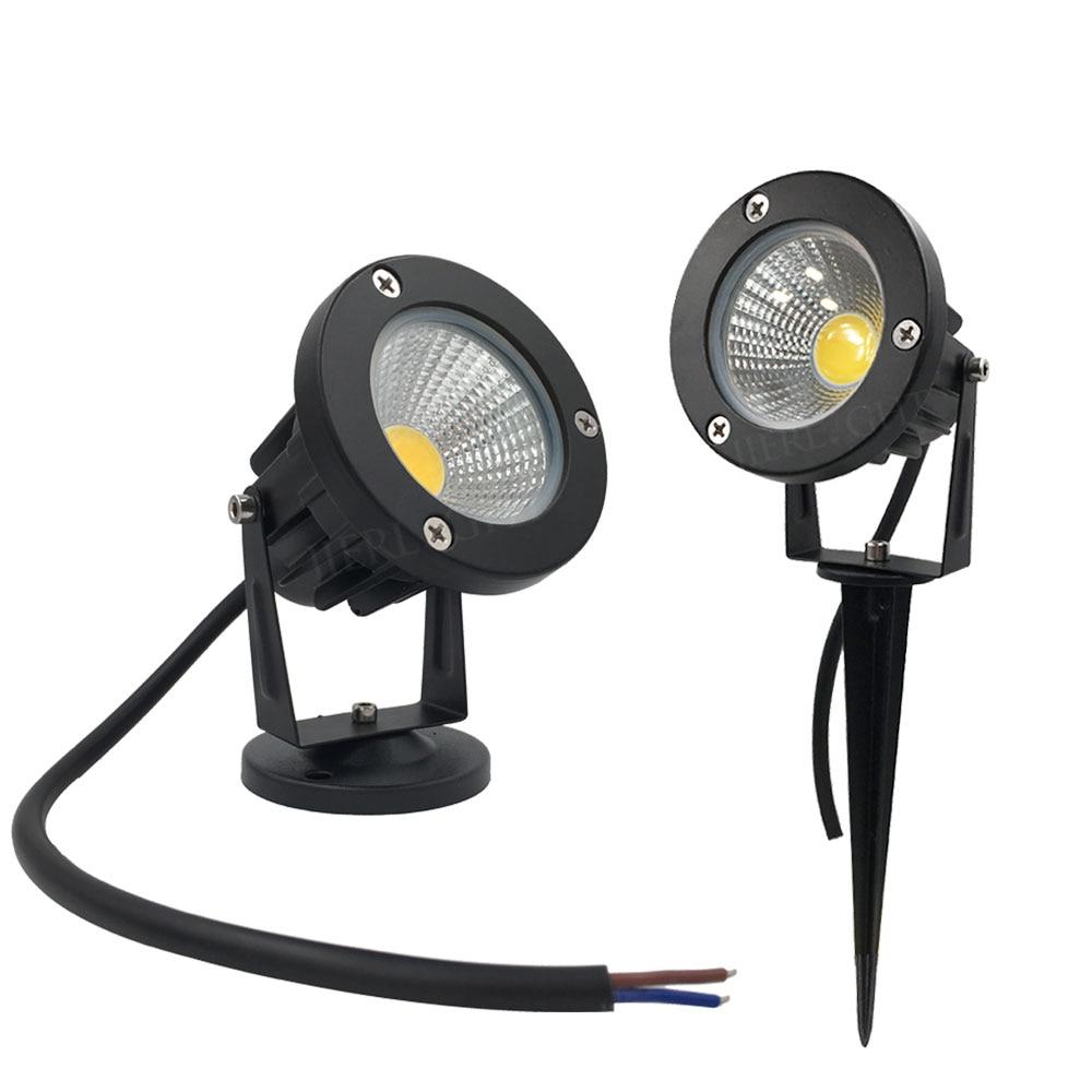 10 stks Waterdichte LED Tuinverlichting 3 W 5 W 7 W 9 W Tuin led lamp 12 V 110 V 220 V spike tuin licht Vijver pad overstroming spot verlichting