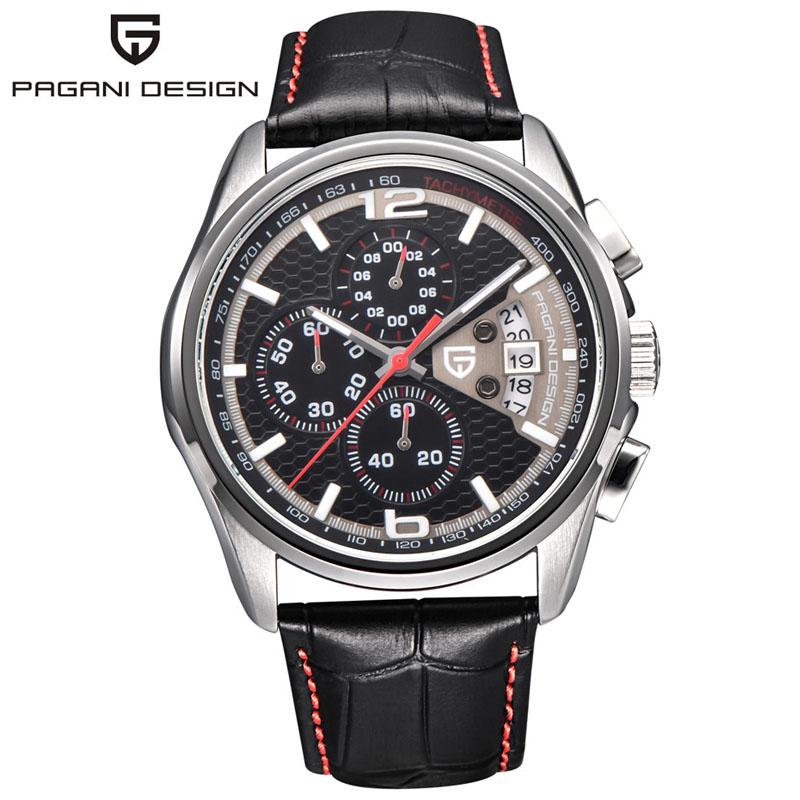 Prix pour 2016 Montres hommes marque de luxe Multifonction Pagani Conception quartz hommes sport montre-bracelet de plongée 30 m montre sport relogio masculino