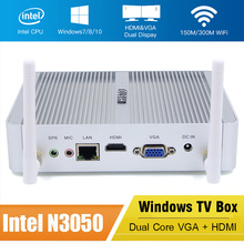FMP06 Windows 10 TV Box Intel Celeron N3050 Dual Core Fanless Mini PC HD Graphics SATA WiFi HDMI VGA Set Top Box Media Player