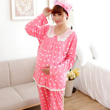 d4016e559c521 Pure Cotton Confined More Suit Long Sleeve Nursing Nursing Garment Care  Bears Pajamas After Nursing Mothers