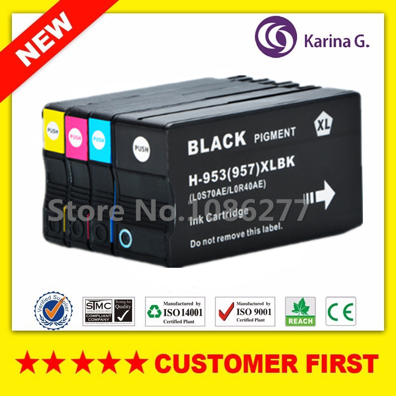 4PCS compatible Ink Cartridge For HP 953 HP953 Full ink suit For HP Officejet Pro 7740 8210 8218 8710 8715 8718 8719 8720 8725 4color 100ml hp953 hp952 hp954 hp955 pigment ink for hp officejet pro 7720 7740 8210 8710 8715 8720 8725 all in one printer 953