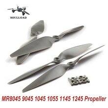RC Hélices de Avião Quadcopter CW/CCW 2 Pares MR8045 9045 1045 1055 1145 1245 Hélice Props Quatro Eixos Eixo Multi