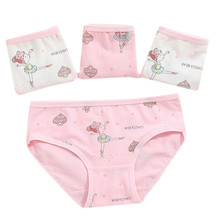 4Pcs Baby Girls Kids Underwear Dancing Girl Children Underpants Short Pants potty training panties underwear A522