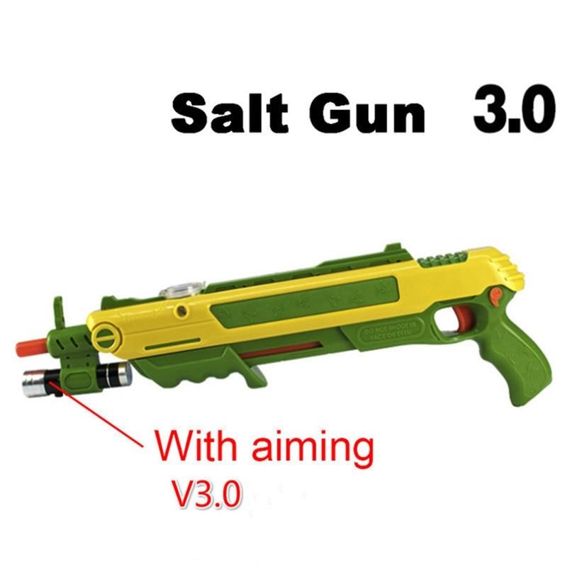 Sel Voler Pistolet bug un sel Poivre armes à feu Balles Blaster Airsoft pour Bug Soufflette Moustique Modèle Jouet Sel garçons cadeaux d'amusement jouer en plein air