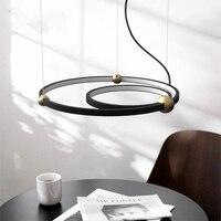 Американский промышленный ветер круг светодиодные лампы в нордическом оригинальном стиле бар кофейня Круглый кольцо Звездная люстра