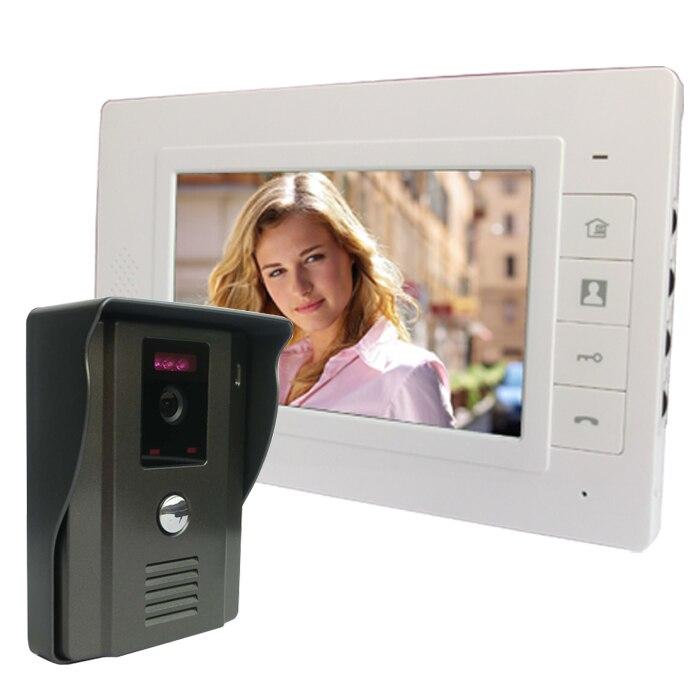 7 LCD Wired Video Door Phone Intercom Video Doorbell Lock Kit Unlock Door Phone With IR Night Vision IR Camera Free Shipping найденный клад