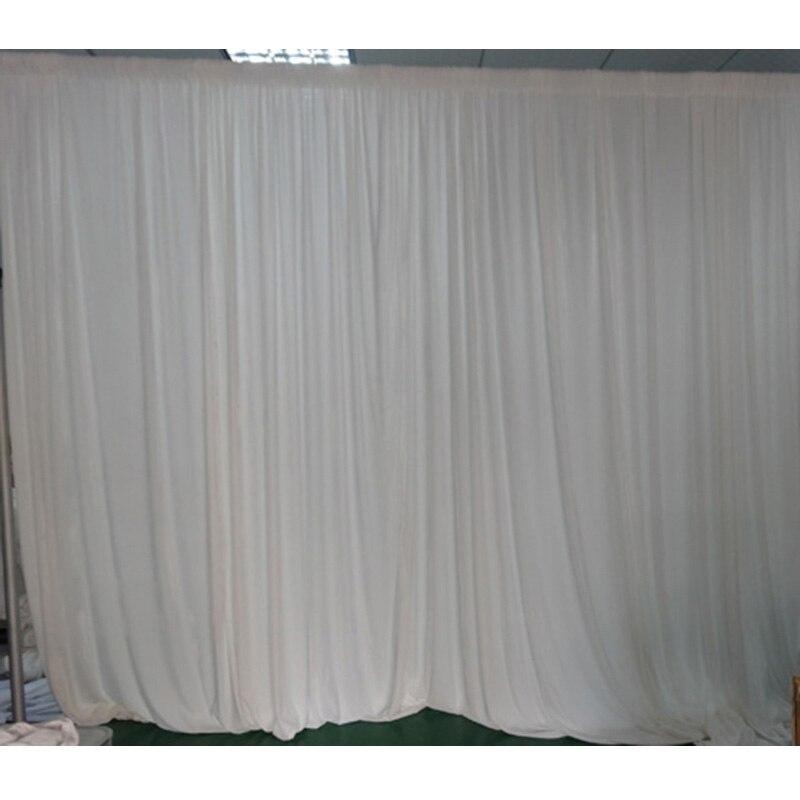 2PCS/lot 3x3 m white pleated ice silk wedding backdrop drapes ...