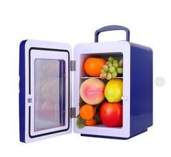 Blue  4L  small compact refrigerator cold and hot dual-purpose mini refrigerator car home refrigerator