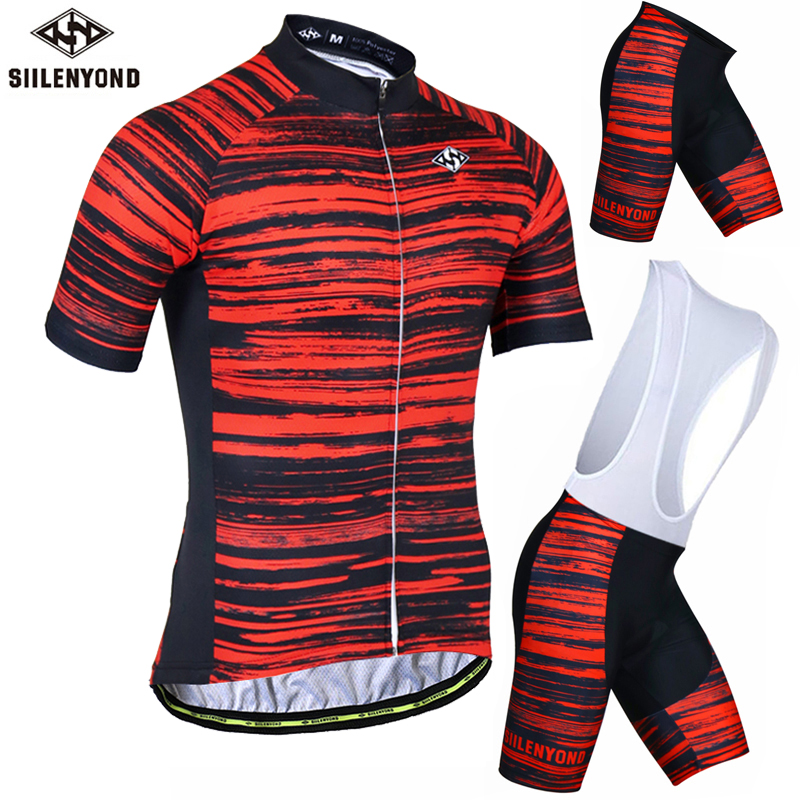SIILENYOND Kingsley Bike Clothes Set Maillot Ropa Ciclismo Bicicleta Bicycle MTB Road Riding Kit Wear Cycling Jersey Set art zerkalo зеркало kingsley gold